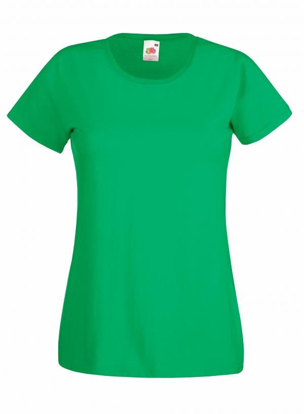 Fruit of the Loom Ladys  T-Shirt Grün