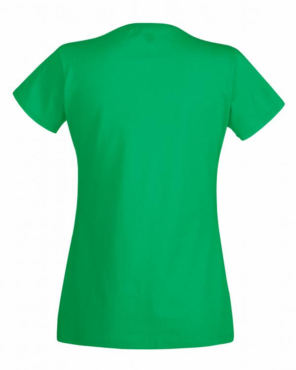 Fruit of the Loom Ladys Rückenansicht T-Shirt Grün
